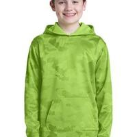 Youth Sport Wick ® CamoHex Fleece Hooded Pullover