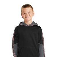 Youth Sport Wick Mineral Freeze Fleece Colorblock Hooded Pullover