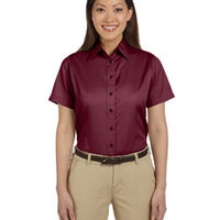 Ladies' Easy Blend™ Short-Sleeve Twill Shirt