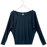 Ladies' Flowy Off-Shoulder Long-Sleeve Blend Tee