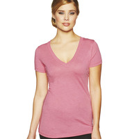 Ladies' Tri-Blend Deep V