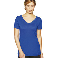 Ladies Slub V Neck