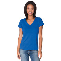 Ladies Sueded V Neck
