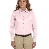 Ladies' Easy Blend™ Long-Sleeve Twill Shirt