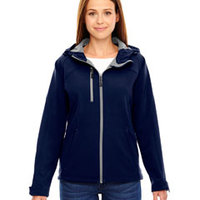 Ladies' Prospect Bonded Soft Shell Hooded Jacket